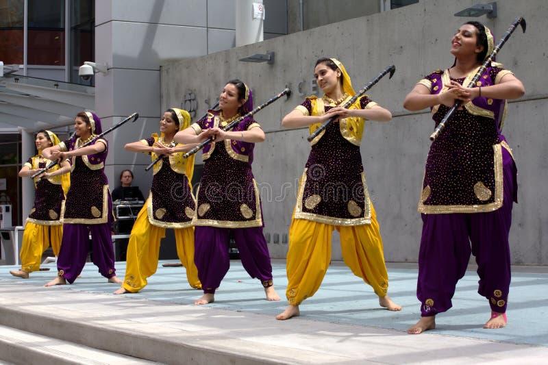 Bhangra Dancers stock images