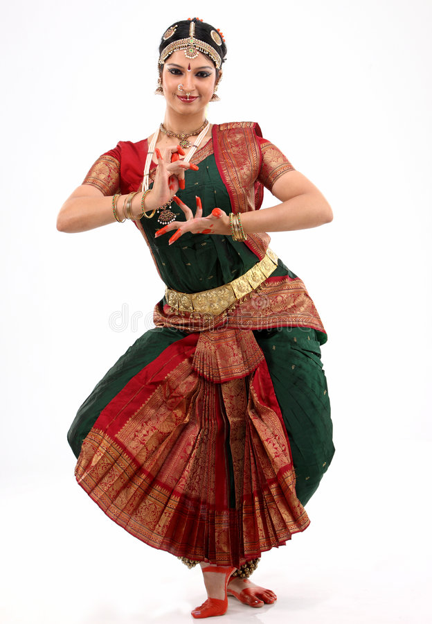 bharatanatyam舞蹈夫人执行 免版税库存图片