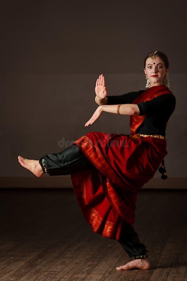 bharatanatyam舞蹈方次数 库存图片