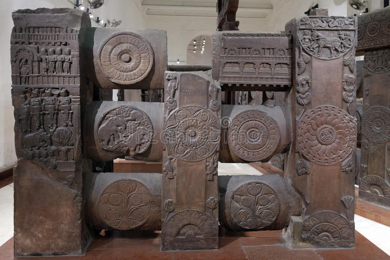Bharhut buddiststupa arkivfoton