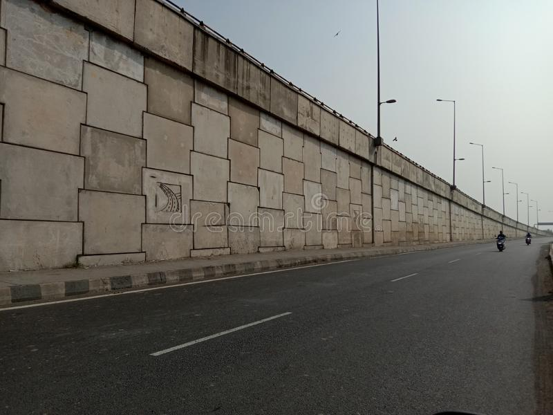 Bharuch flyover and road in india in gujrat state.  royalty free stock photography