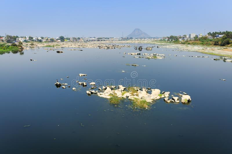 Bhavani River. Bhavani is a major river in Tamil Nadu, India. It is the second longest river in Tamil Nadu and a major tributary of the Kaveri River. A view from stock image