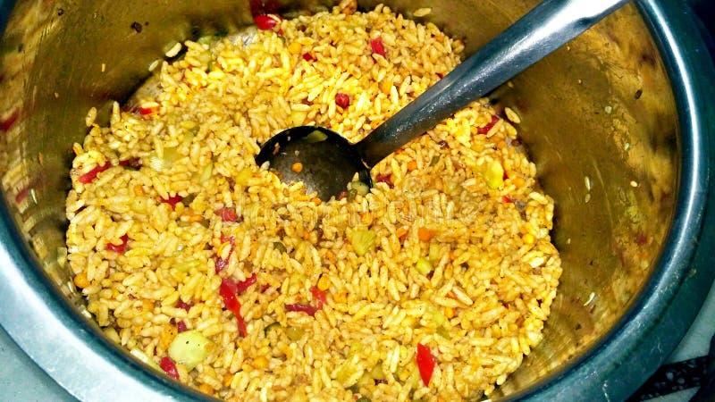 Bhel Puri смачные закуска/деталь Chaat от Индии стоковые фотографии rf