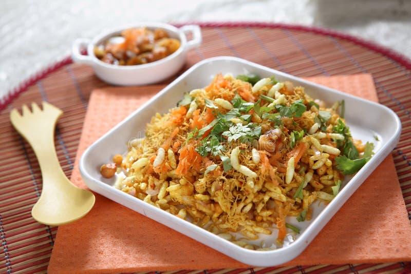 Bhelpuri, wohlschmeckender Snack lizenzfreie stockfotos