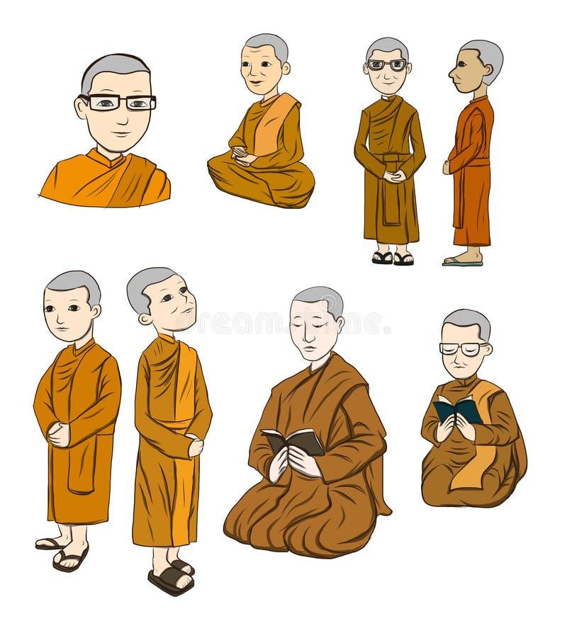 bhikkhuni集合充分地是被规定的佛教尼姑.图片