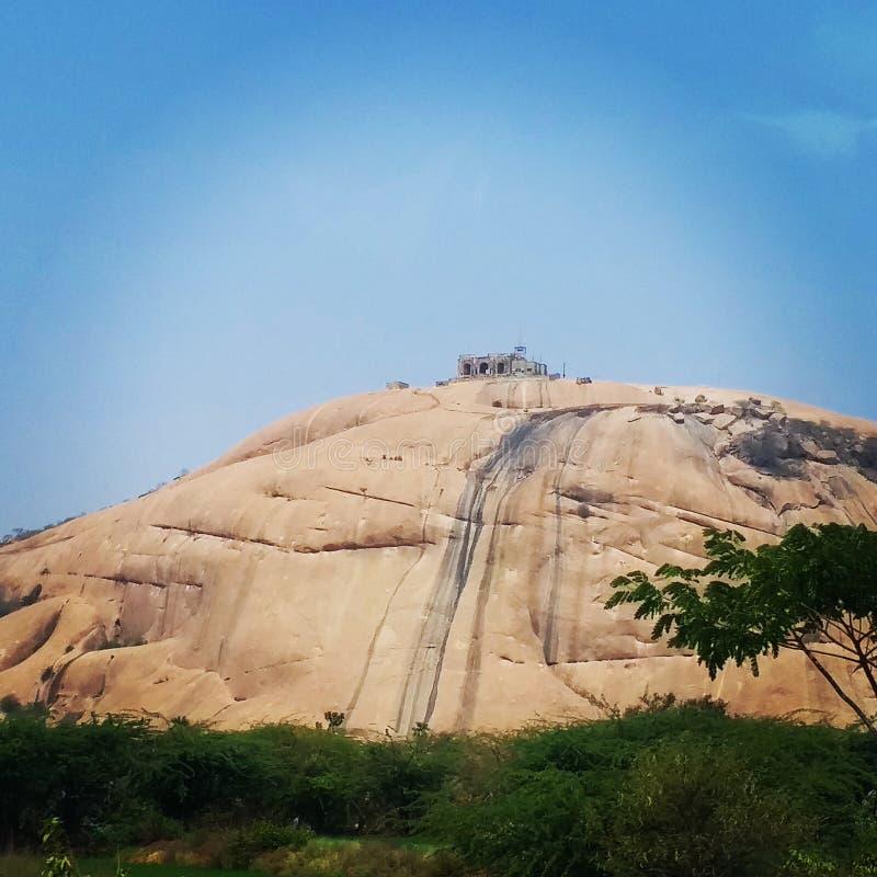 Bhongir fort, Warangal obrazy stock