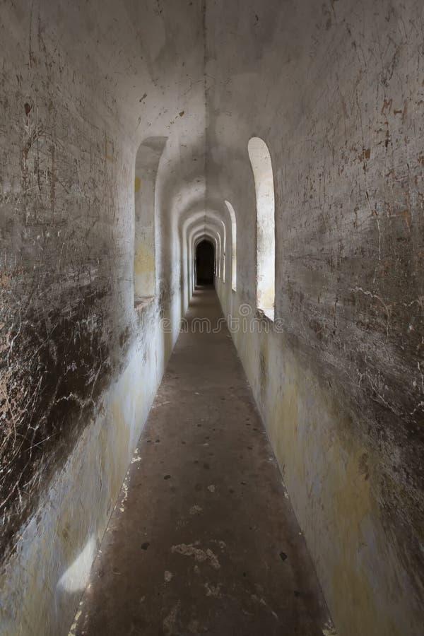 Bhool Bhulaiyan ou labirinto do complexo de Bara Imamabara em Lucknow, Índia fotografia de stock royalty free