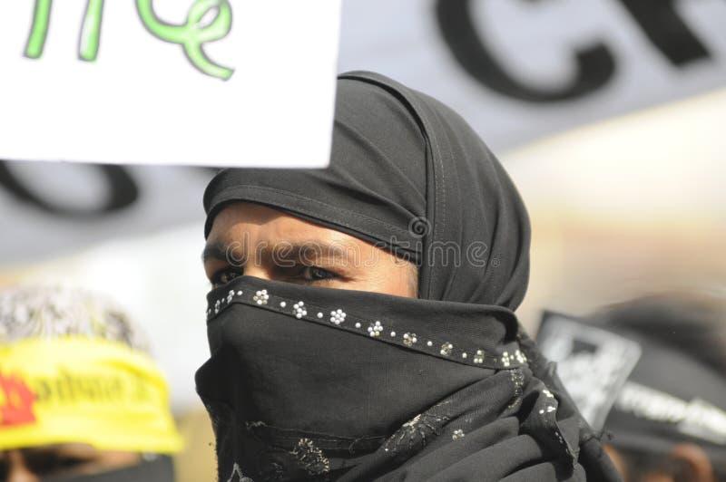 Bhopal agitation. royaltyfri foto