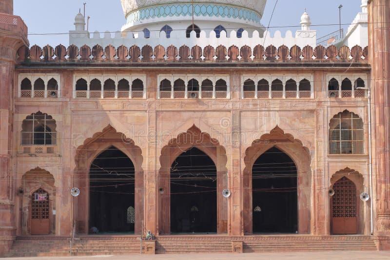 Bhopal boog en architectuur, van taj - ul - masjid, madhya pradesh, India stock foto's