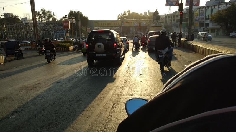 Bhopal-Straße stockfoto