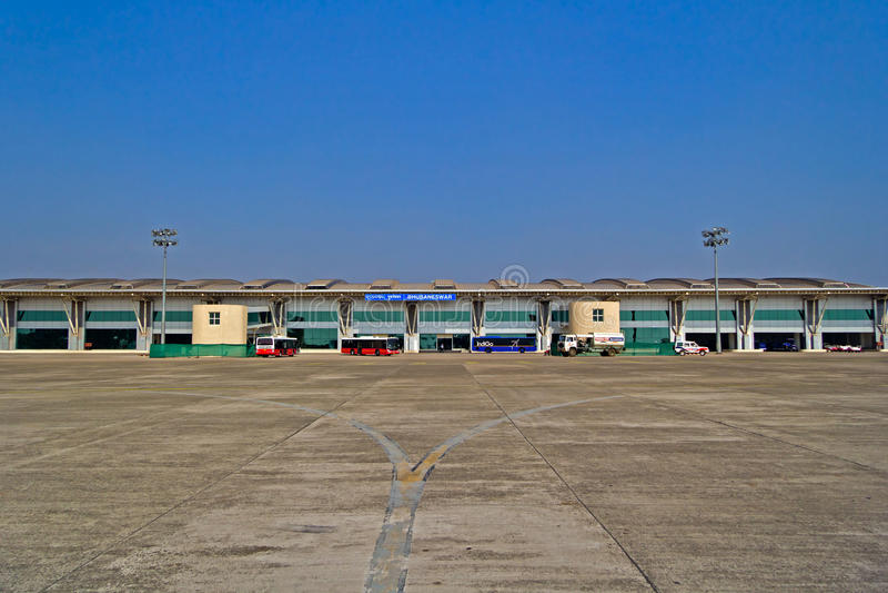 Bhubaneshwar airport. FEBRUARY 3, 2014, BHUBANESHWAR, ORISSA, INDIA - Building of the Bhubaneshwar airport stock photography