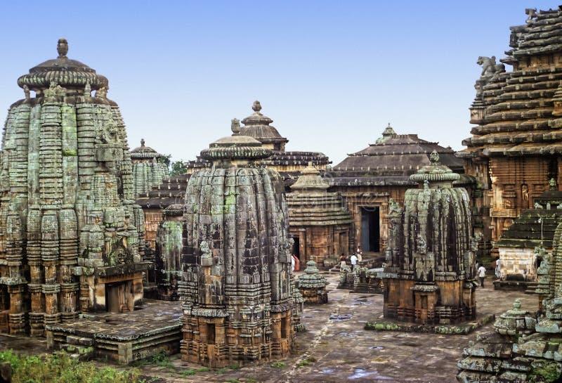 Bhubaneshwar temple. Original shape of Lingaraj Hindu temple, the largest one in Bhubaneshwar, Orissa, India stock photos