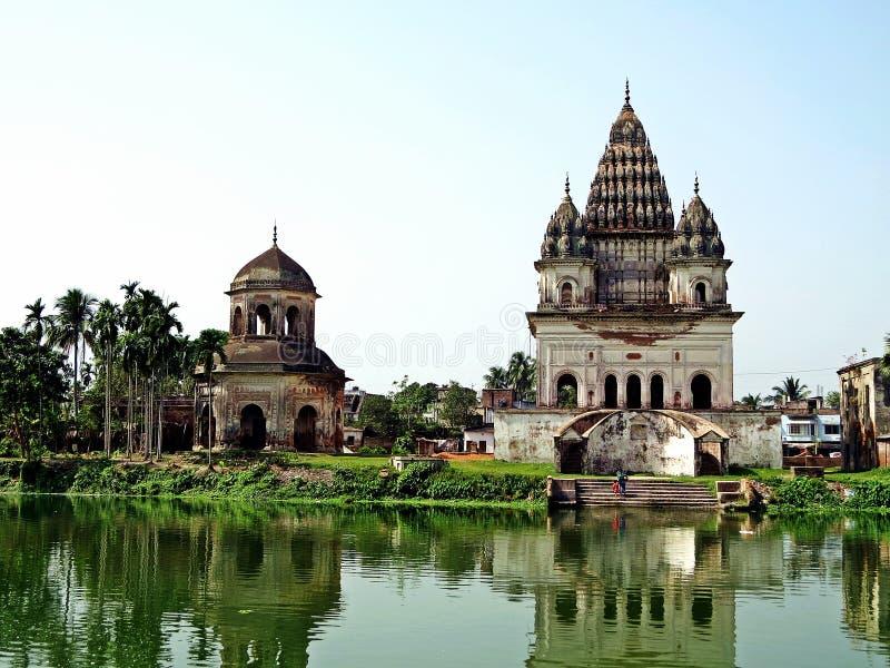 Bhubaneswar-Shiva-templo, Puthia, Bangladesh imagen de archivo
