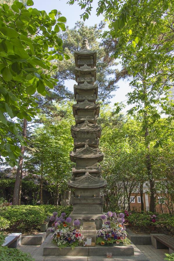 Bhuddist Shrine in Soeul, Korea stock image