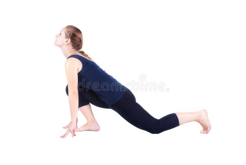 Bhujangasana namaskar d'Ardha de troisième d'opération surya de yoga photographie stock libre de droits