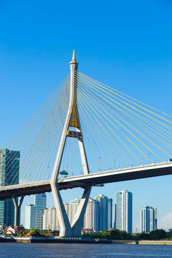 Bhumibol桥梁。 免版税库存图片