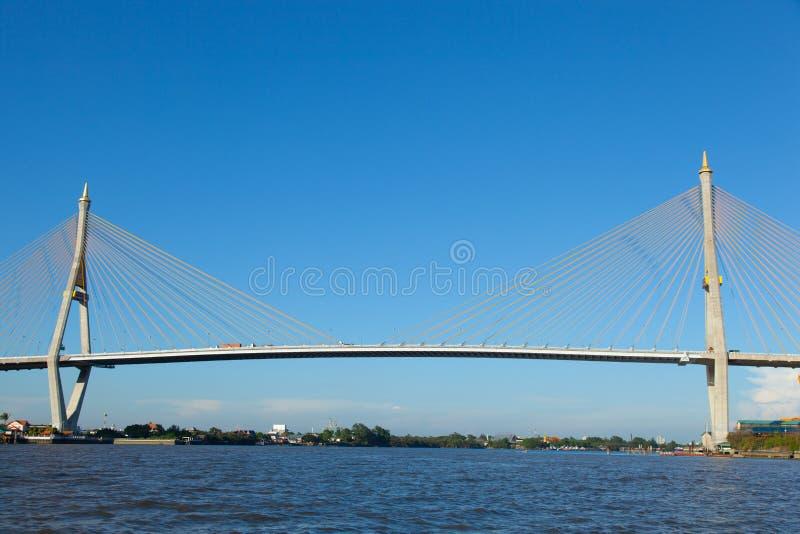 Bhumibol桥梁。 免版税图库摄影