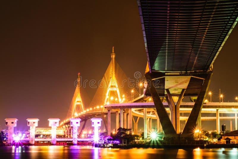 bhumibol Bridge2 royaltyfri bild