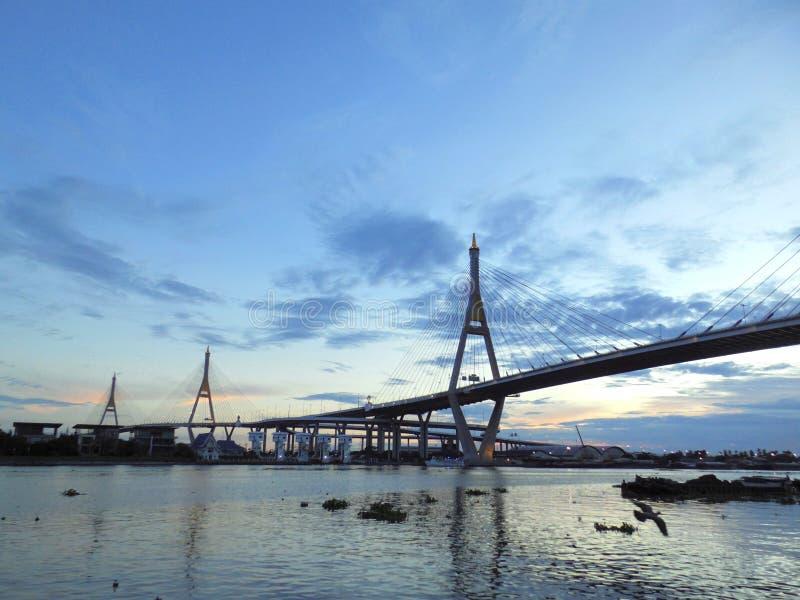 Bhumibol most Przemysłowy pierścionku most lub Mega most, zdjęcia stock
