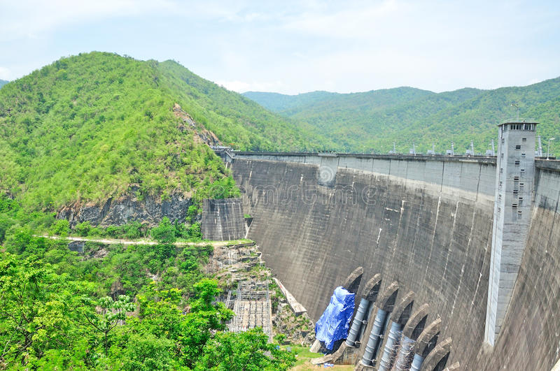 Bhumiphol dam in Tak, Hydro Power Electric Dam royalty free stock images
