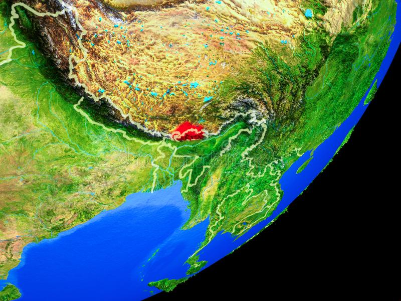 Bhután en la tierra del espacio libre illustration