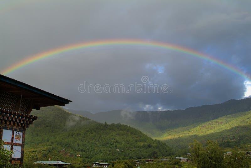 Bhután, valle de Paro fotografía de archivo