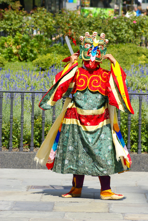 Free Bhutan Dancer Stock Image - 6429281