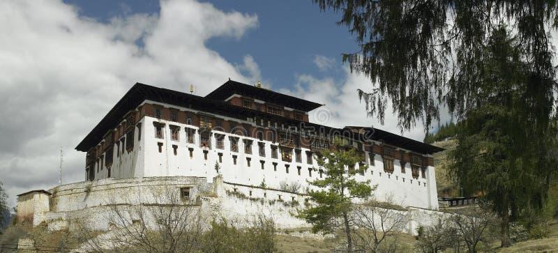 bhutan dzongparo royaltyfria foton