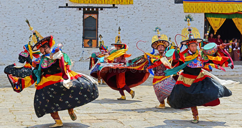 Bhutan festiwal obraz stock