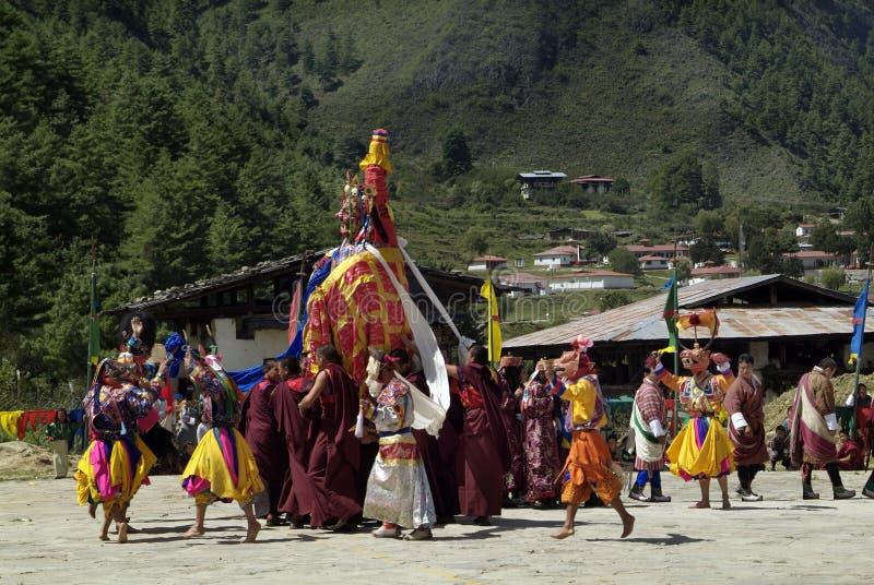 Bhutan Haa, Tshechu, royaltyfri fotografi