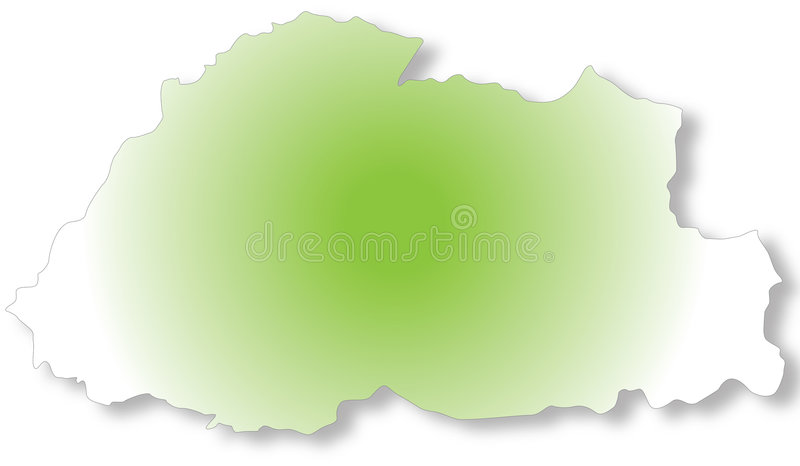 Download Bhutan Map stock illustration. Illustration of asian, illustration - 4689344