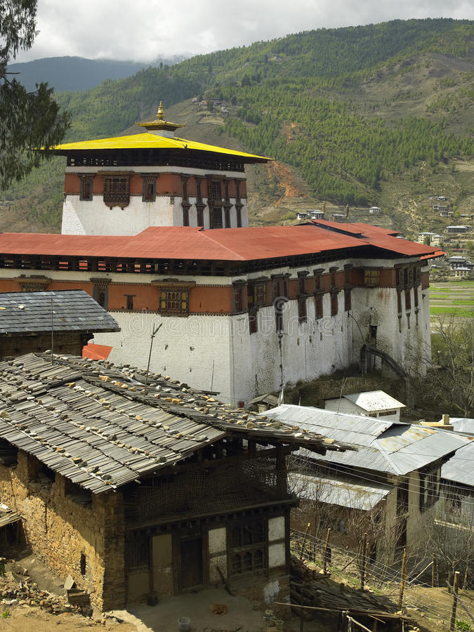 Bhutan - Paro Dzong (Monastery) royalty free stock photo