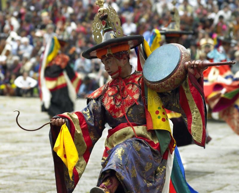 Bhutan - Paro Tsechu foto de stock
