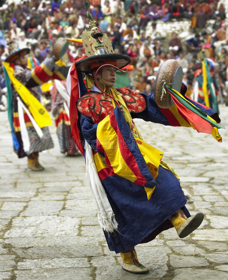 Download Bhutan - Paro Tsechu editorial image. Image of cham, blur - 17755845