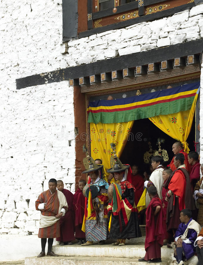 bhutan parotsechu royaltyfri bild