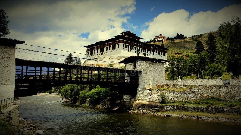 Bhutan-Tempel lizenzfreie stockbilder