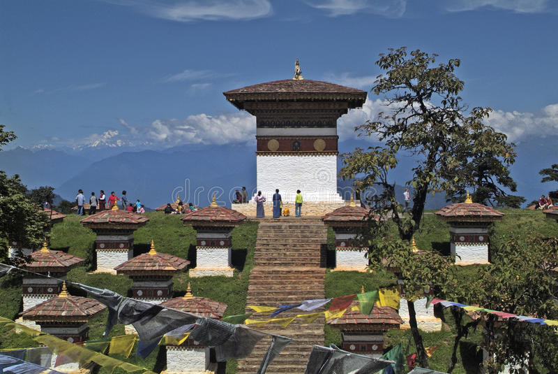 Bhutan, Thimpu, Dochu-La stock afbeeldingen