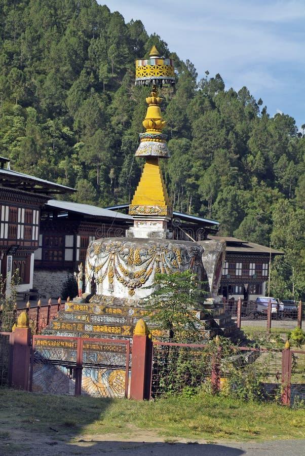 Bhutan Trashigang, royaltyfri fotografi