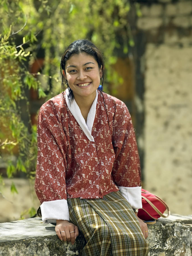 Bhutanese Woman - Paro - Kingdom of Bhutan stock photography