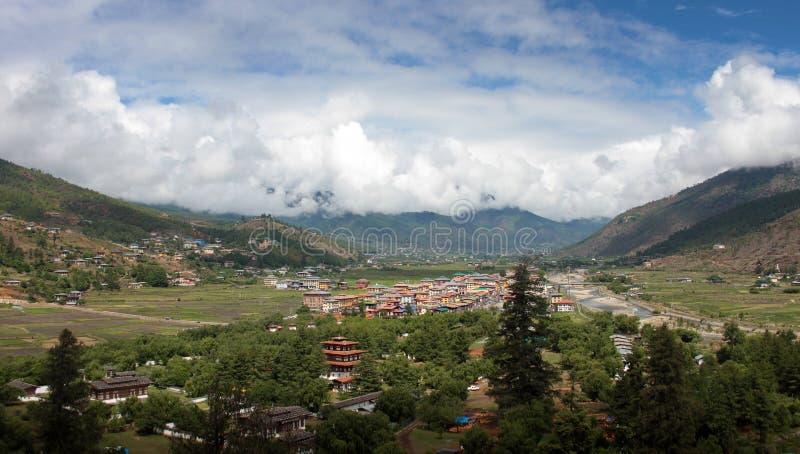 Bhutanesisk stadparo royaltyfria foton