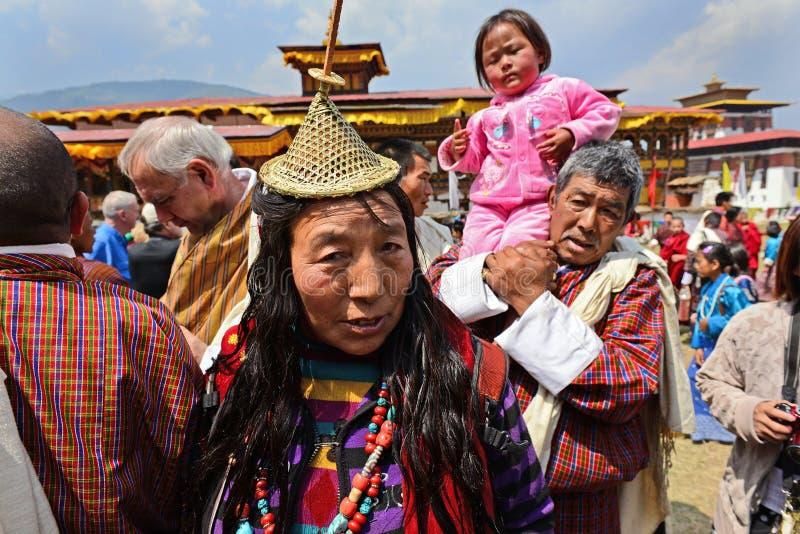 Bhutanesiskt folk arkivbilder