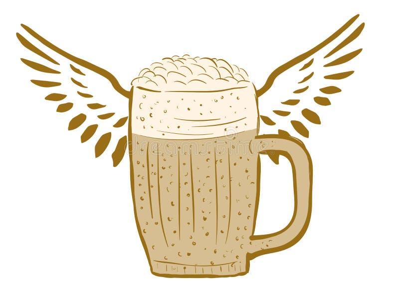 Bière à ailes illustration libre de droits