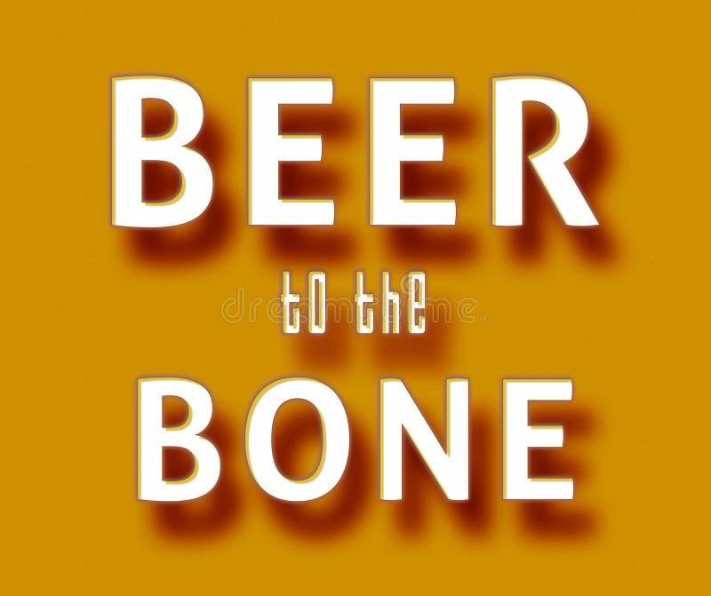 Bière à l'os illustration libre de droits