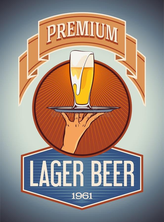 Bière blonde de la meilleure qualité illustration de vecteur