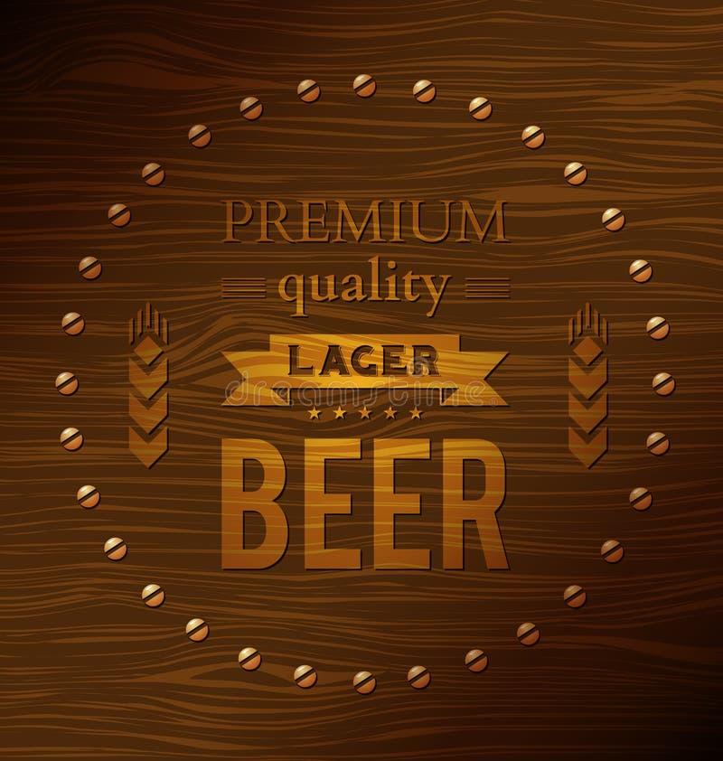 Bière blonde de qualité de la meilleure qualité illustration de vecteur