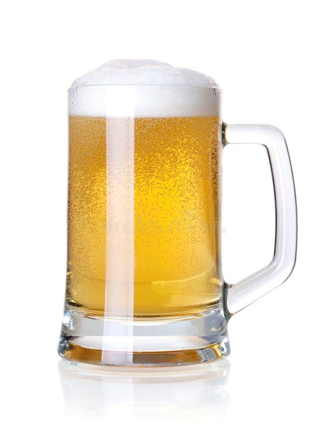 Bière blonde froide photographie stock