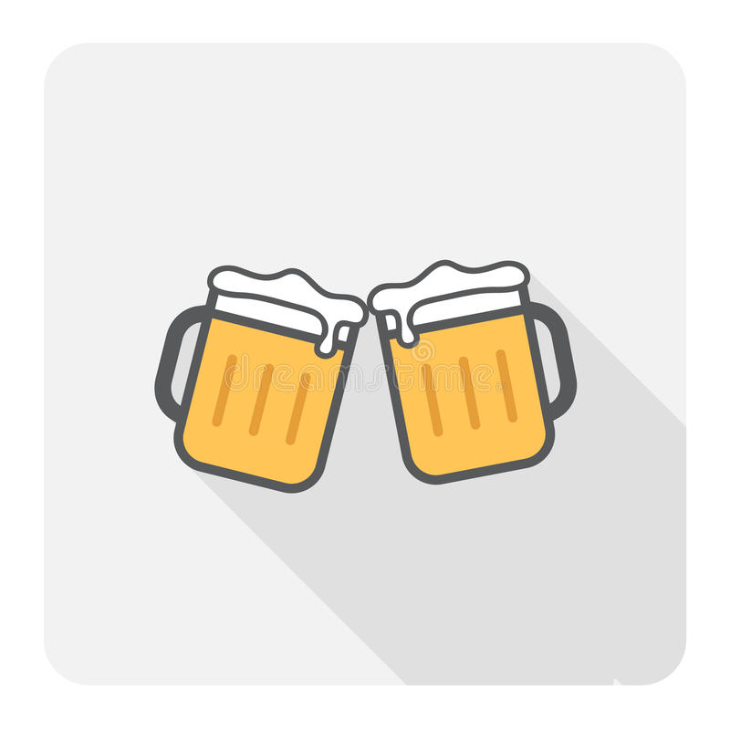 Bière d'acclamation illustration de vecteur