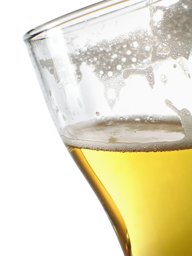 Bière dans le plan rapproché de tasse image stock
