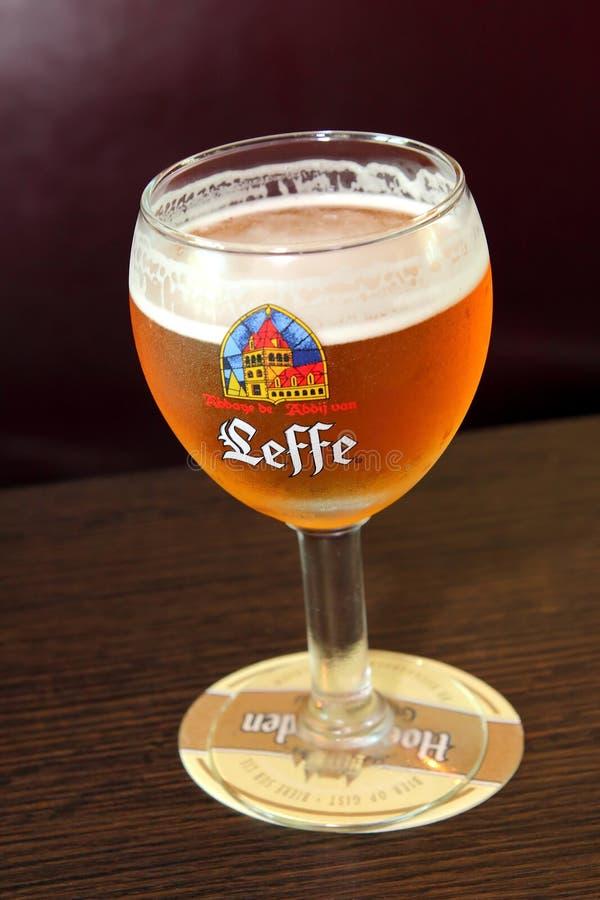 Bière de Belge de Leffe images libres de droits
