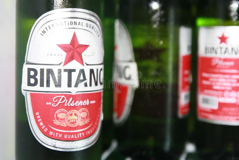 Bière de Bintang images stock